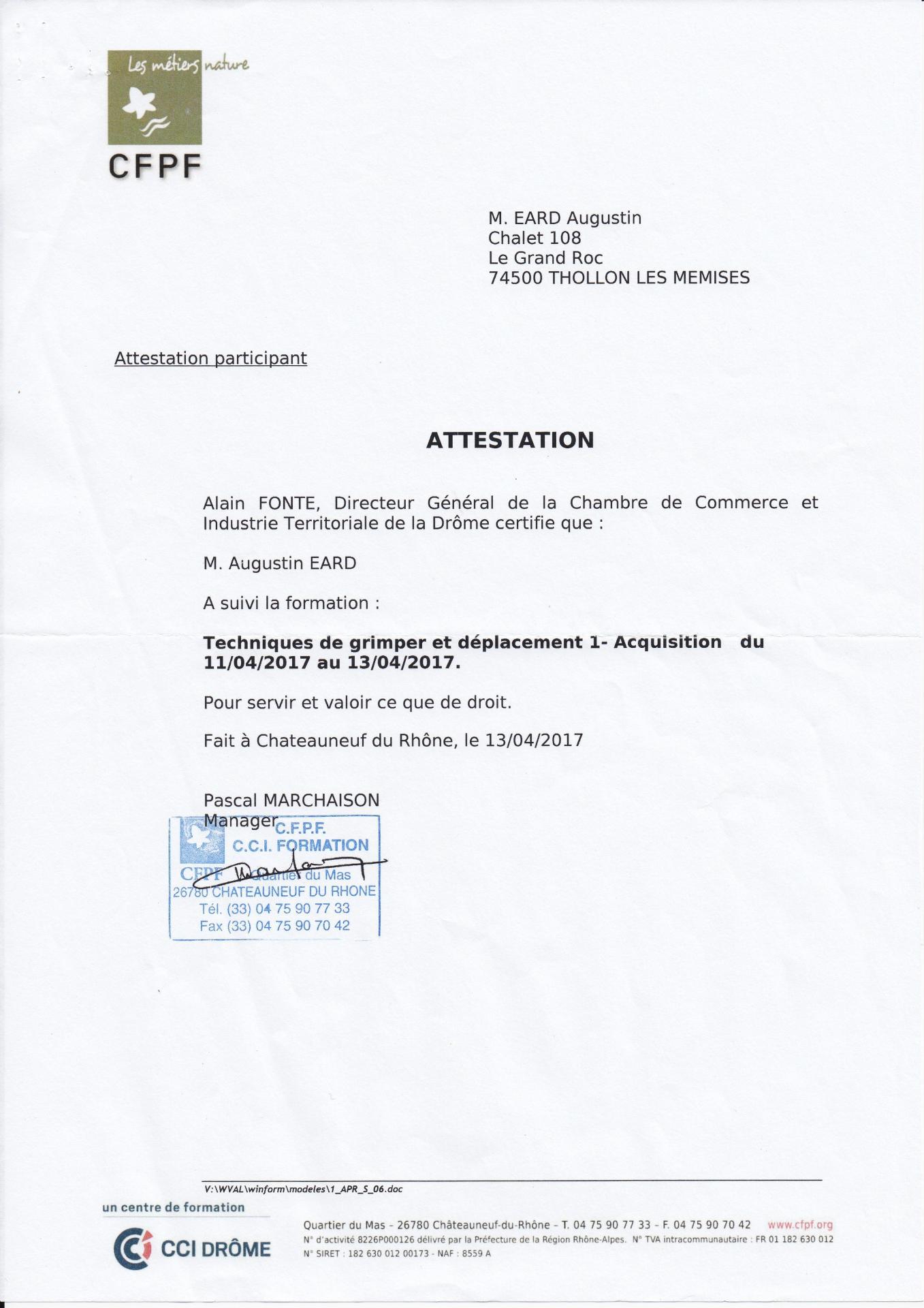 Certification demontage